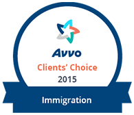 Avvo Clients' Choice 2015 - Immigration